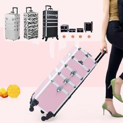 3 4in 1 Pro Aluminum Rolling High Quality Makeup Case Cosmetic Organizer Trolley $71.99