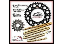 Renthal Black Sprocket And Gold Chain Kit Yamaha Yz125 Yz 125 05-15 14-50t