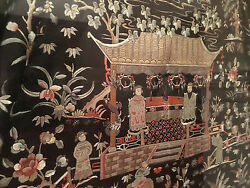 A Rare and Important Qing Dynasty Embroidered Wedding Silk Robe Framed.