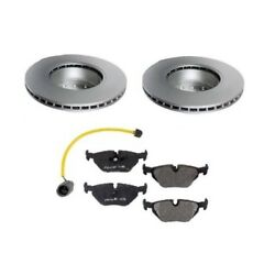 For Bmw E34 535i 89-93 Front Left And Right Brake Kit Rotors Sensor And Pads Meyle