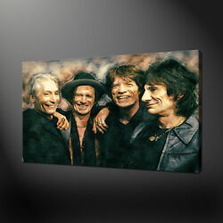 The Rolling Stones Canvas Print Picture Abstract Wall Hanging Art Home Decor