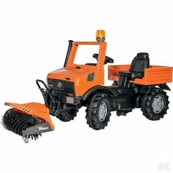Rolly Toys Unimog With Road Sweeper Ride On Kids Toy Farm Machinery Age 3+