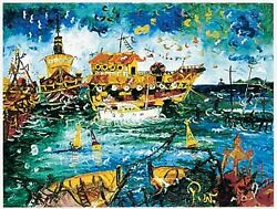 John Perceval Ships At Wiliamstown Limited Edition Hand Signed Print Modern Art