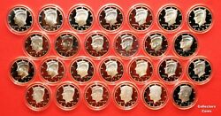 1992-2021 S Kennedy Half Set Wall 30 90 Silver Proofs In Direct Fit Holders