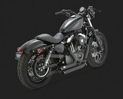 New Genuine Vance And Hines Short Shots Staggered Exhaust-black 1801-0752