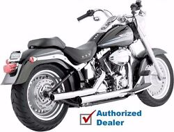 Vance And Hines Straight Shots Straightshots Exhaust Pipes System Harley Softail