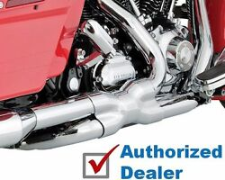 Chrome Vance And Hines True Power Duals Exhaust Headers 2009-2016 Harley Touring
