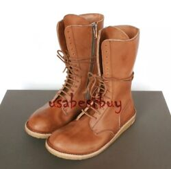 New Handmade Mens High Ankle Latest Superb Style Leather Boots With Crepe Sole
