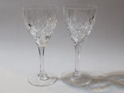 St Louis Crystal France Chantilly 7 7/8 Water Goblet Glasses Lot Of 2