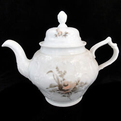 Rosenthal Brown Rose Sanssouci Tea Pot 7.75 Tall New Never Used Made Germany