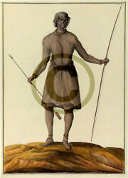 Indien Du Canada 1732 Ad - Reprinted Colored Drawing Portrays Of Nipissing
