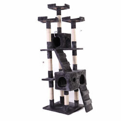 Cat Tree Tower Condo New Furniture Scratching Post Pet Kitty Play House Gray 67