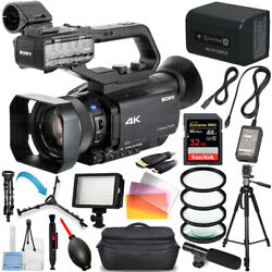 Sony Hxr-nx80 Full Hd Xdcam With Hdr And Fast Hybrid Af + 32gb + Led Light Bundle