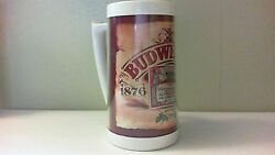 6 Vintage Thermoserv Budweiser 1876-1976 100 Years Beer Mug Made In Usa Plastic