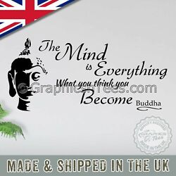 The Mind Is Everything Buddha Inspirational Wall Sticker Quote Yoga Decal