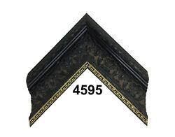 Custom Picture Frame   2 3/4 Ornate Black W Gold   Great For Canvases And Artwork