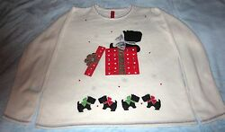 Scottie Dog Christmas Sweater Blingy Cute - Size: XXLXXG (20) - New without Tag