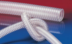 Airduc Pur 350 As Antistatic Vacuum And Transfer Hose, Id 4.5, 25 Ft