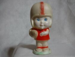 vintage 1960s Football Player Dog Squeak Squeaky Rubber Toy Sanitoy Ma Usa