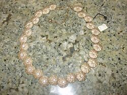 Trifari Choker Vintage Necklace Jewlery Cluster W Tag Daisy Chain Flower Gold Cl