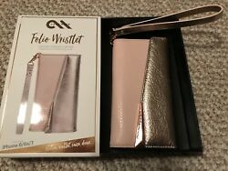 iPhone 66s7 Case-Mate Folio-Wristlet Genuine Pebbled Leather New in Box