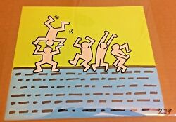 Keith Haring Production Cel Key Master Background Matching Drawing Sesame Street