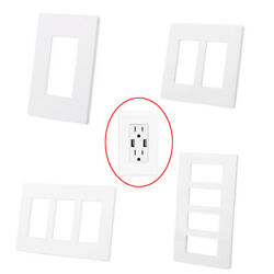 1 2 3 4 Gang Screwless Decorator Outlet Wall Plate Rocker Light Switch Cover