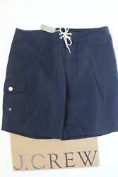 Nwt J Crew 9 Solid Board Short In Navy Sz 30 A0659