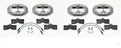 Wilwood D8-4 Brake Caliperpadand Line Kitfront And Rear1965-1982 C2c3 Vette