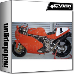 Spark 2 Exhausts High Round Racing Carbon Ducati 851 1991 91 1992 92 1993 93