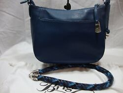 BRIGHTON YOUR BAGORGANIZER W2 BRAIDED STRAPS*ATLANTIC BLUE*SOLD OUT IN STORES