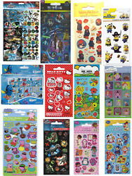 Childrens Stickers Character Fun Pirate Minions Party Pack Loot Bag Fillers