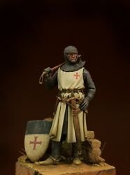 Templar Knight With An Axe Tin Painted Toy Soldier Pre-sale   Museum Quality