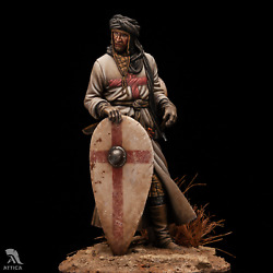 Crusader Veteran Of Knights Templar Painted Tin Toy Soldier Pre-sale   Museum