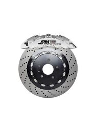 Jpm Forged Rs Big Brake 6pot Caliper Anodized Silver 355/32 Drill Disc For A4 B8