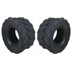Two 18x9.50-8 18/950-8 Tubeless Rear Tires 4ply Lawn Mower Tractor Go Kart Atv