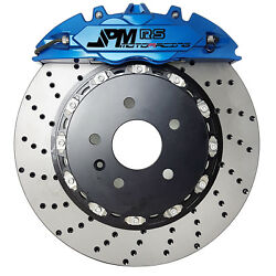 Jpm Rs Anodized Blue Forged Big Brake Kit 4-piston Front For 2013+ Honda Accord