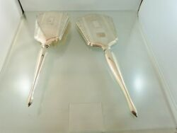 Art Deco Sterling Hand Held Dresser Set Brush And Mirror By International Silver