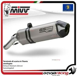 MIVV SPEED EDGE exhaust slip-on homologated titanium for BMW R1200GS 2008