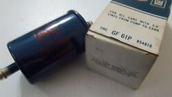 Nos Ac Gf61p /gm 854619 Fuel Filter Blue/red Lettering W/orig.box Not Repro