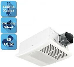Home Bath Steel Square 80CFM Ceiling Bathroom Exhaust Fan with Light and Heater