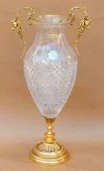 Martin Benito Hand Cut Crystal Vase Made In France
