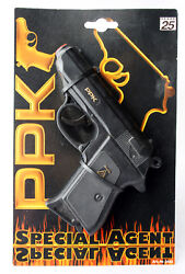 Special Agent 007 Walther Ppk Toy Cup Gun 25 Shots Wicke Lone Star Germany New