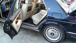 1998 Rolls Royce Silver Spur Spirit Rear Seats Ivory Magnolia With Blue Pipin