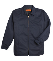 Work Jackets Used Uniform Cintas Unifirst Red Kap Insulated Lined Panel Coat $13.39