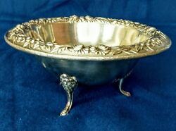 Sterling.925 Antique Repousse Sauce Bowl S. Kirk And Sons 1900's Beautiful