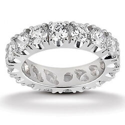 Diamond Eternity Wedding Band 4.00ct Ladies Four Prong Set