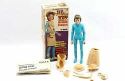 Vintage Marx Janie West 9 Polyplastic Action Figure And Box Johnny West Series
