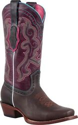Womenand039s Potro Rebelde Genuine Leather Snip Toe Cowgirl Western Boots Handmade