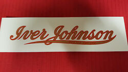 Iver Johnson Script Bicycle Water Slide Decal Set Of Two